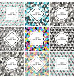 Seamless set of postcards vector