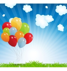 Set colored balloons eps 10 vector