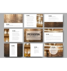 Set of 9 templates for presentation slides City vector