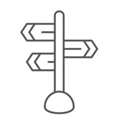Signpost thin line icon direction and sign vector