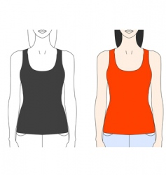 Strap tank top template vector