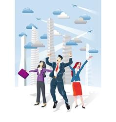 Successful Executives Jumping vector