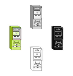 Terminal for various types payment terminals vector