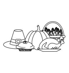 thanksgiving day cartoon vector image