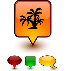 Tropical speech comic icons vector