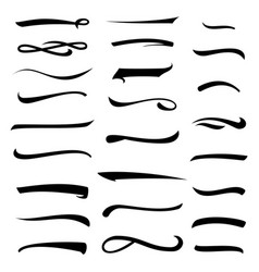 white underlines lettering lines set isolated on vector image
