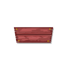 wood board for site menu interface vector image