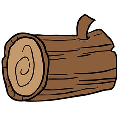 wood log cartoon vector image