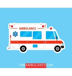 Ambulance bus isolated vector image vector image