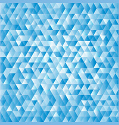 blue abstract triangles background vector image