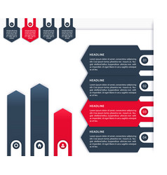 business infographics 1 2 3 4 timeline vector image vector image