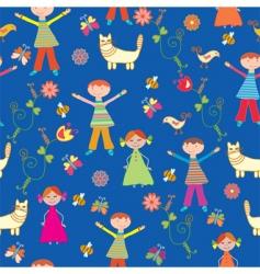 children's wallpaper pattern vector image vector image