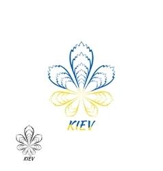 Kiev Ukraine logo design template elements vector image