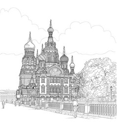sketch of the temple vector image