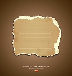 Vintage Ripped paper vector image vector image