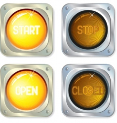 buttons lights vector image vector image