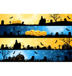 Four Halloween Banners vector image vector image