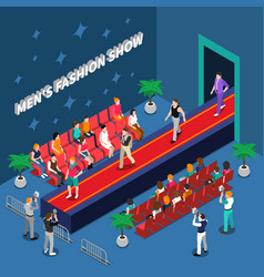 mens fashion show isometric vector image vector image