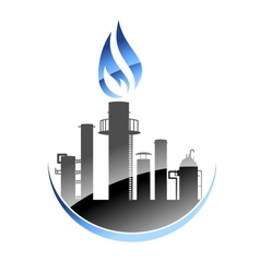 Oil refinery or industrial plant vector image