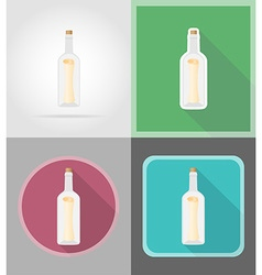 pirate flat icons 08 vector image
