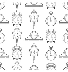 Seamless pattern with different kinds of watches vector image