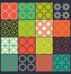 Set of 16 seamless patterns vector