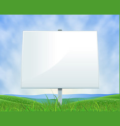 spring or summer landscape white billboard vector image