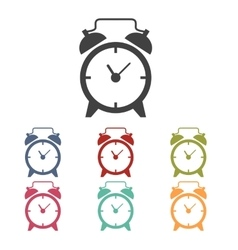 Alarm clock icons set vector image