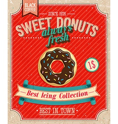 Donuts Poster vector image