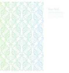 Ornate border boho background vector