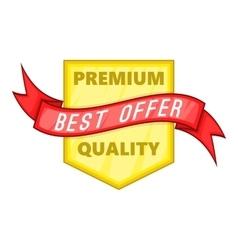 Premium quality label icon cartoon style vector image vector image