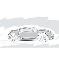 racing sport car vector image