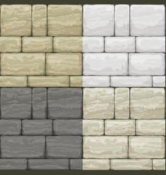 set texture of old stone vector image vector image