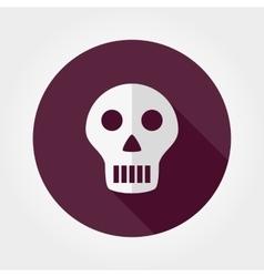Skull icon vector image vector image