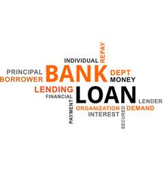 word cloud - bank loan vector image