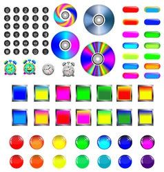 2 Assorted icons and buttons vector image