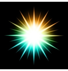 Abstract Background With Glowing Star vector image vector image