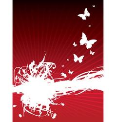 butterfly splash background vector image vector image