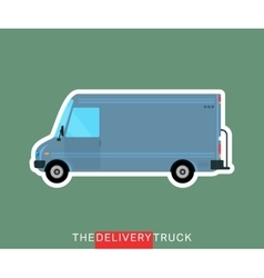 Delivery truck isolated vector image vector image
