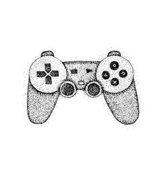 dotwork gaming console vector image
