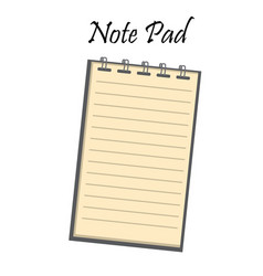 notebook with cover vector image
