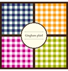 Set of gingham plaid patterns vector image