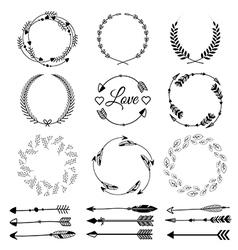 Set of hand drawn arrows Tribal designs vector image