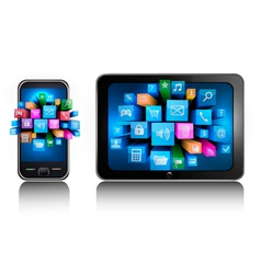 smartphone and tablet pc vector image vector image