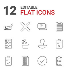 12 check icons vector