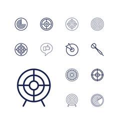 13 aim icons vector