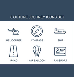 6 journey icons vector