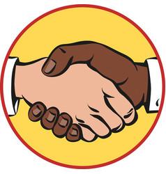 A vigorous handshake vector