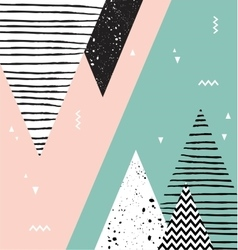 Abstract geometric Scandinavian style pattern with vector