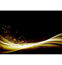 Abstract glittering sparkling waves border vector image